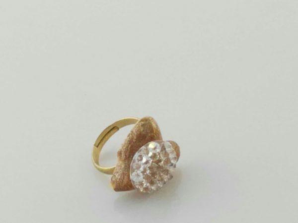 anillo corazon cristal