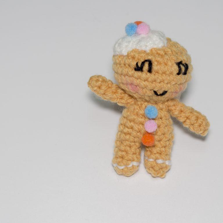 Muñeco de galleta de punto