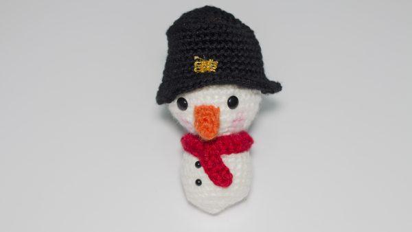 muñeco de nieve de punto