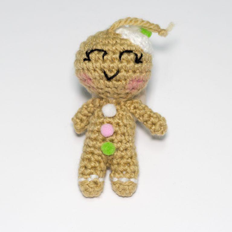 muñeco galleta de punto