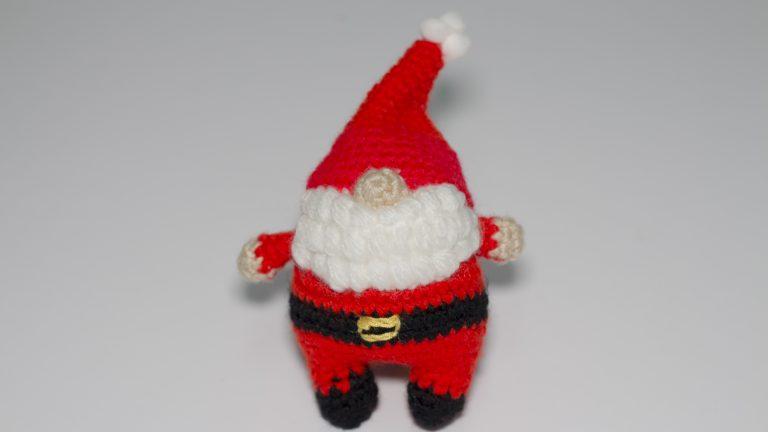 Muñeco Navidad Papá Noel de punto