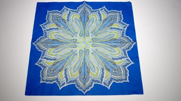 papel azul para abanicos grandes, medianos y celeste