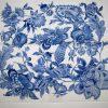 papel azul para abanicos grandes, pequeños y medianos