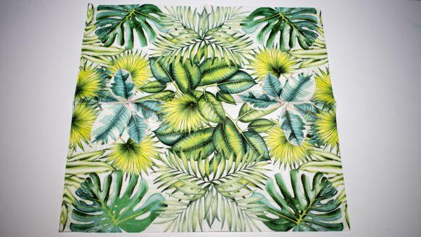 papel verde abanicos grande, pequeño y mediano